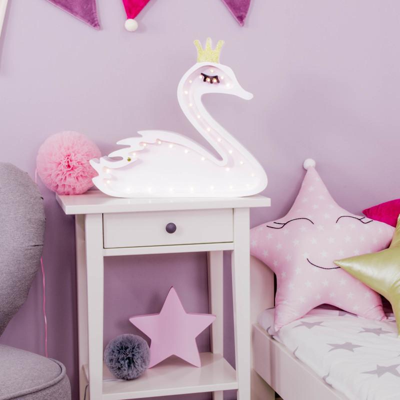 Swan Night Light, led lamp for kids room ⋆ Mollis Home