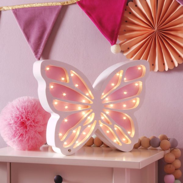 butterfly lamp wooden
