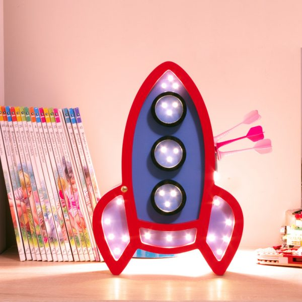 rocket night light lamp