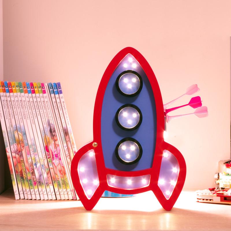 Rocket Night Lamp For Kids Room Mollis Home