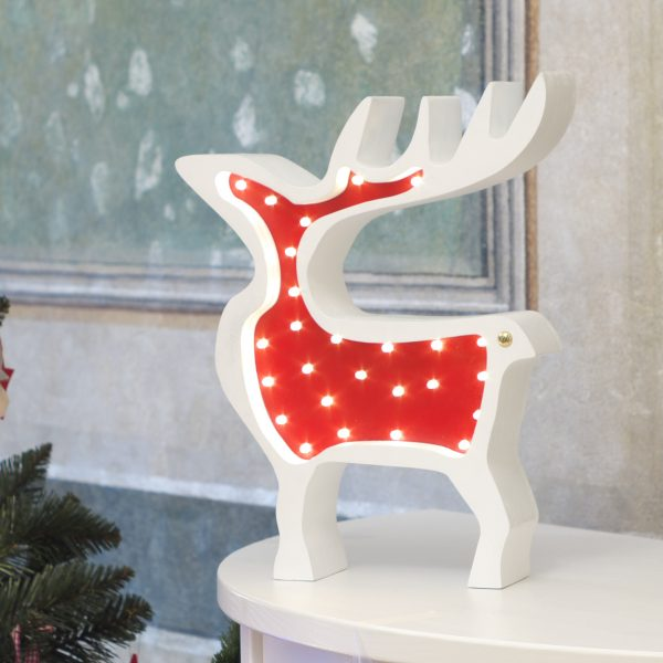 reindeer decorative wooden lamp